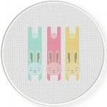 Long Bunnies Cross Stitch Illustration
