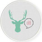 Oh Deer Cross Stitch Illustration