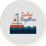 Sailin Together Cross Stitch Illustration