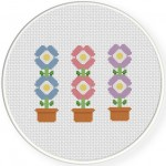 Simple Flowers Cross Stitch Illustration