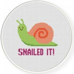 Snailed It! Cross Stitch Illustration
