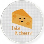 Take It Cheesy Cross Stitch Illustration
