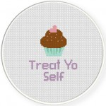 Treat Yo Self Cross Stitch Illustration