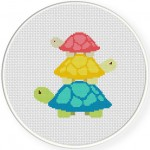 Turtle Tower Cross Stitch Illustration
