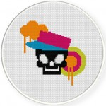 Urban Skull Cross Stitch Illustration