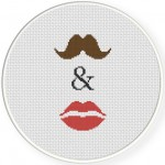 You And Me Cross Stitch Illustration