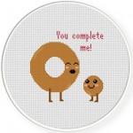 You Complete Me Cross Stitch Illustration