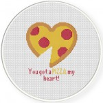 You Got A Pizza My Heart Cross Stitch Illustration