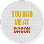 You Had Me At Bacon Cross Stitch Illustration