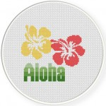 Aloha Cross Stitch Illustration