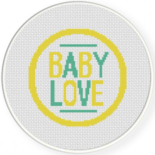 Baby Love Cross Stitch Illustration