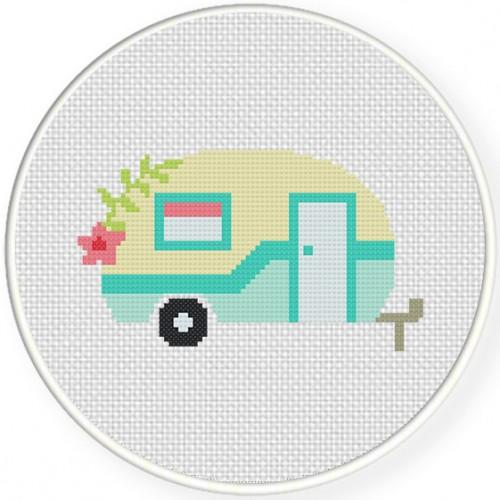 cute camper cross stitch pattern  u2013 daily cross stitch