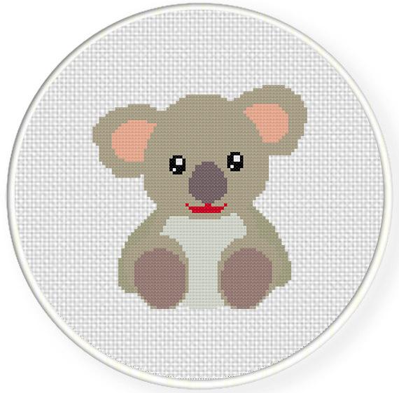 Charts club members only cutesy koala cross stitch