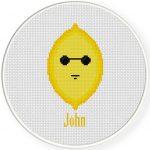 John Lemon Cross Stitch Illustration