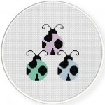 Lady Bugs Cross Stitch Illustration