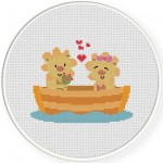 Lion Love Cross Stitch Illustration