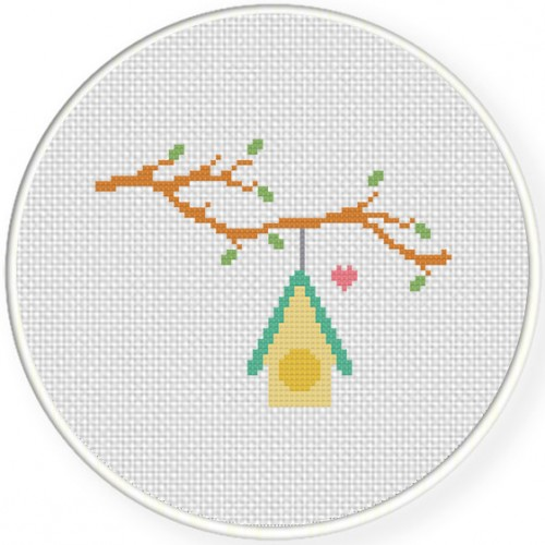 Charts Club Members Only Lovely Bird House Cross Stitch