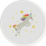Lovely Unicorn Cross Stitch Illustration