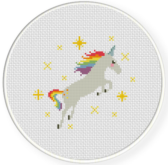 Clever image intended for free printable unicorn cross stitch patterns