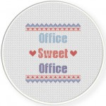 Office Sweet Office Cross Stitch Illustration