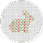 Pattern Bunny Cross Stitch Illustration