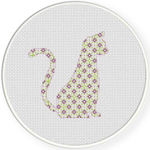 Pattern Cat Cross Stitch Illustration