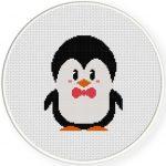 Penguin Love Cross Stitch Illustration