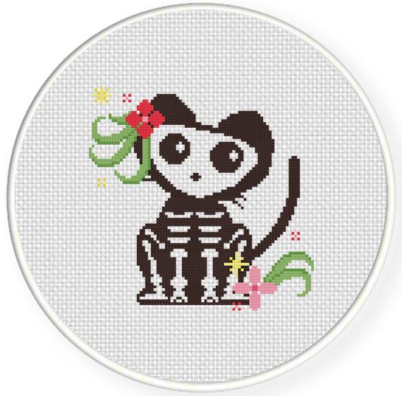 Skelly The Cat Cross Stitch Pattern – Daily Cross Stitch