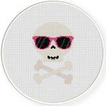 Skull Shades Cross Stitch Illustration