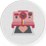 Smile Camera Cross Stitch Illustration