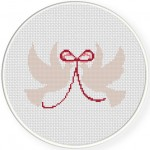 Two Doves Cross Stitch Illustration