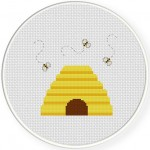 BeeHive Cross Stitch Illustration
