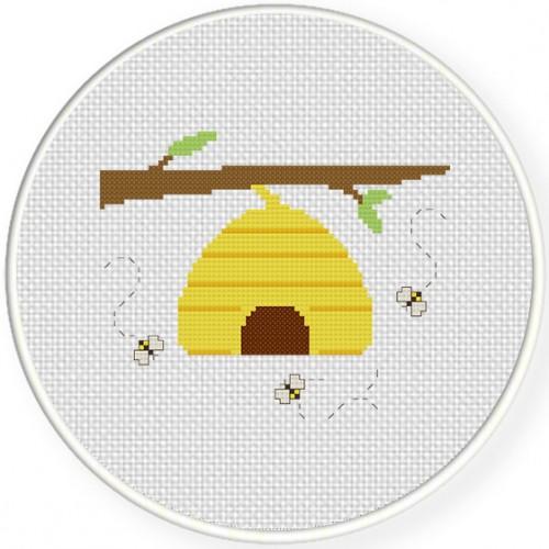 BeeHive Cross Stitch Illustration