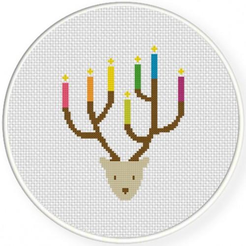 Can-Deer-Labra Cross Stitch Illustration