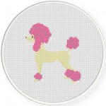 Color Poodle Cross Stitch Illustration