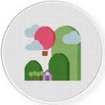 Hillside Cross Stitch Illustration