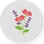 Meadow Flowers Cross Stitch Illustration