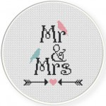 Mr And Mrs Cross Stitch Illustration