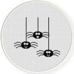 Spider Cross Stitch Illustration