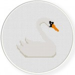Swan Cross Stitch Illustration