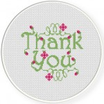 Thank You Cross Stitch Illustration