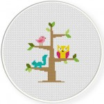 Tree Dwellers Cross Stitch Illustration