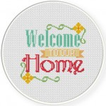 Welcome Cross Stitch Illustration