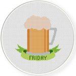Friday Cross Stitch Illustration
