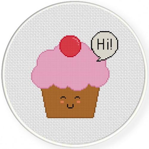 Friendly Cupcake Cross Stitch Pattern Daily Cross Stitch