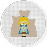 Goldilocks Cross Stitch Illustration