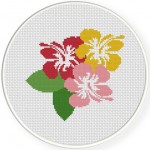 Hibiscus Cross Stitch Illustration