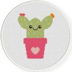 Hug Me Cactus Cross Stitch Illustration