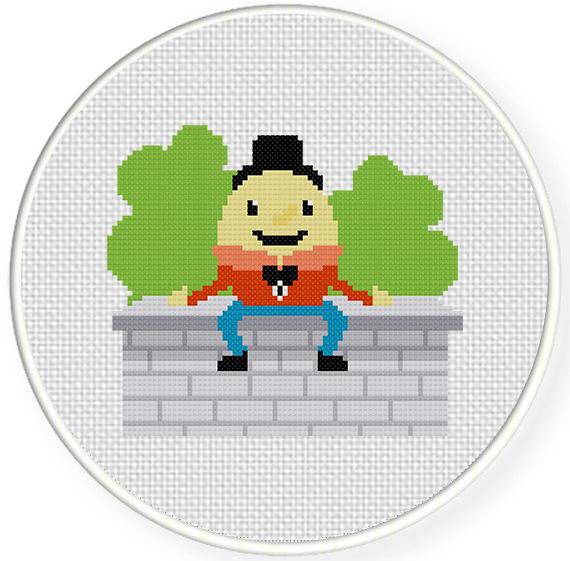Humpty Dumpty Cross Stitch Pattern Daily Cross Stitch
