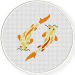 Koi FIsh Cross Stitch Illustration